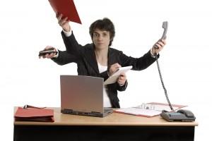 multitasking workaholic