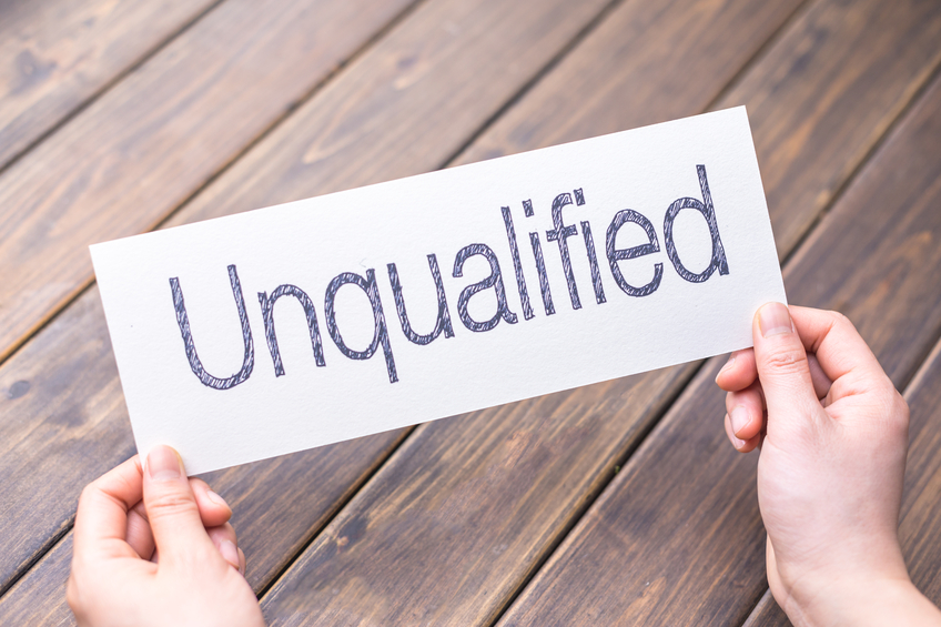 unqualified for jobs